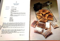 Page from Lenotre cookbok with waffle recipe